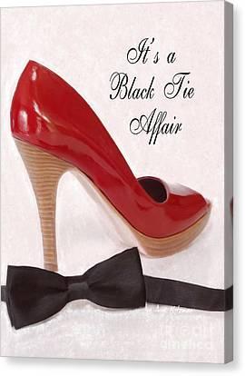 Black Tie Affair Canvas Print by Anne Kitzman