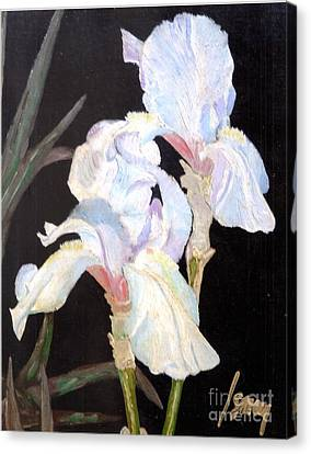 Canvas Print featuring the painting Blue Iris by Rod Ismay