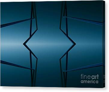Blue Reflection Canvas Print by Odon Czintos