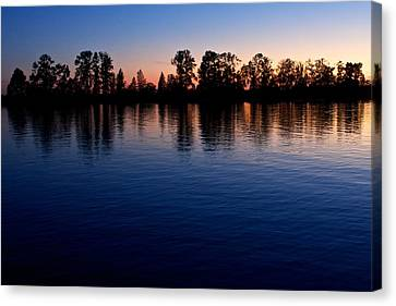 Canvas Print featuring the photograph Blue Sunset by Scott Holmes