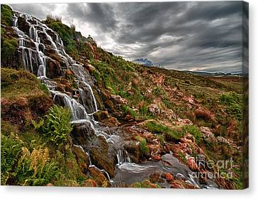 Brides Veil Waterfall Canvas Print by Fiona Messenger
