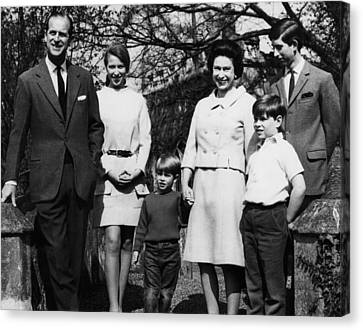 British Royal Family. From Left Prince Canvas Print by Everett