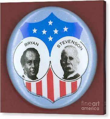 Ewing Canvas Print - Bryan Campaign Button by Granger