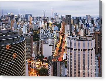 Buildings Of Downtown Sao Paulo Canvas Print