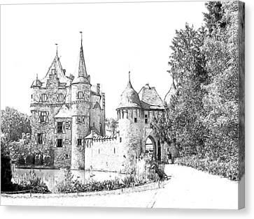 Burg Satzvey Germany Canvas Print by Joseph Hendrix