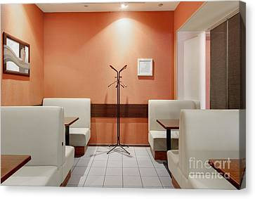 Cafe Dining Room Canvas Print by Magomed Magomedagaev
