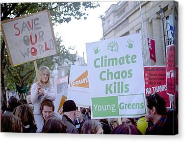 Campaign Against Climate Change March Canvas Print by Victor De Schwanberg