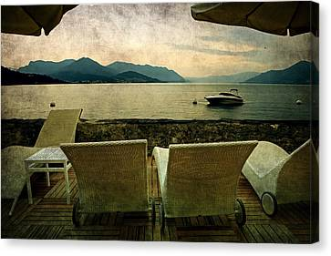 Canvas Chairs Canvas Print by Joana Kruse