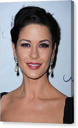 Catherine Zeta-jones At The After-party Canvas Print by Everett