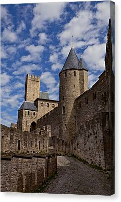 Chateau Comtal Of Carcassonne Fortress Canvas Print by Evgeny Prokofyev