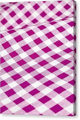 Checked Tablecloth Canvas Print by Maria Toutoudaki