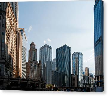 Chicago City Center Canvas Print by Carol Ailles