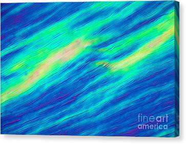 Cholesteric Liquid Crystals Canvas Print by Michael Abbey and Photo Researchers