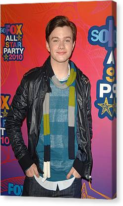 Chris Colfer At Arrivals For Fox Canvas Print by Everett