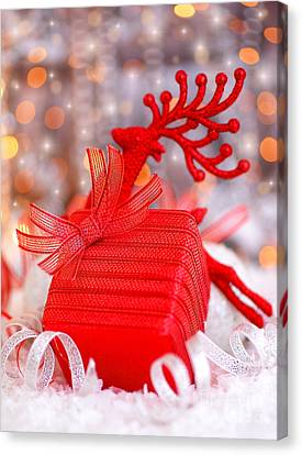 Christmas Gift Canvas Print by Anna Om