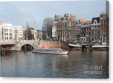 City Scenes From Amsterdam Canvas Print by Carol Ailles