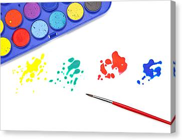 Color Splash Canvas Print by Joana Kruse