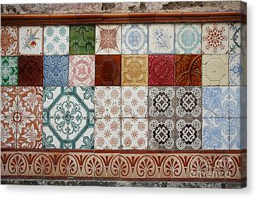 Colorful Glazed Tiles Canvas Print by Gaspar Avila