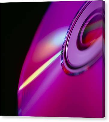 Compact Disc Canvas Print by Tek Image