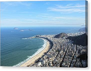 Copacabana And Ipanema Canvas Print by Antonello