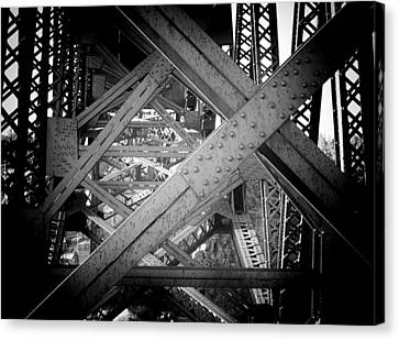 Crooked River Bridge  Canvas Print by Franklin Jeffers