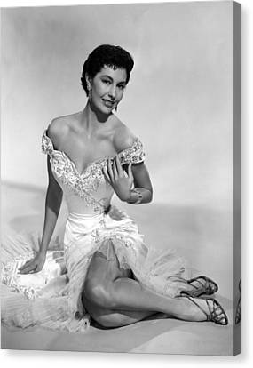 Bare Shoulder Canvas Print - Cyd Charisse, Ca. 1950s by Everett