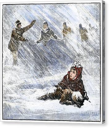 Missing Child Canvas Print - Dakota Blizzard, 1888 by Granger