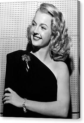 Covering Up Canvas Print - Dale Evans 1912-2001, American Actress by Everett