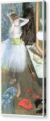 Dancer In Her Dressing Room Canvas Print - Dancer In Her Dressing Room by Edgar Degas