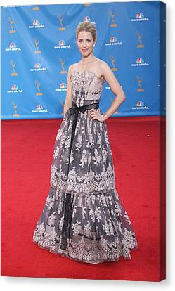 Dianna Agron Wearing A Carolina Herrera Canvas Print