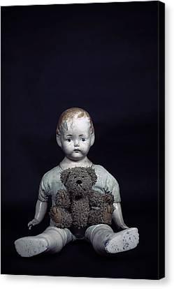 Doll And Bear Canvas Print by Joana Kruse