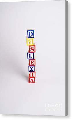 Dyslexia Canvas Print by Photo Researchers, Inc.