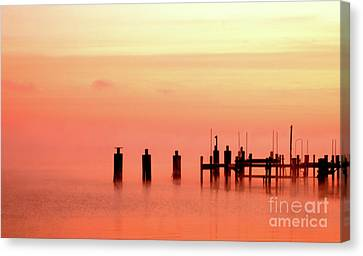 Canvas Print featuring the photograph Eery Morn by Clayton Bruster