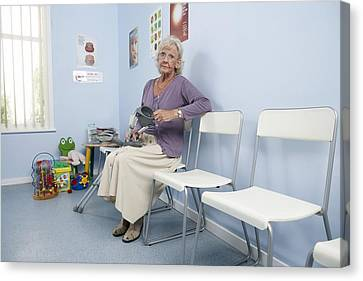 Elderly Patient Canvas Print by Adam Gault