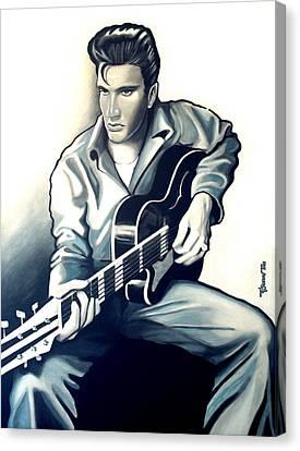 Elvis Canvas Print by Jose Roldan Rendon