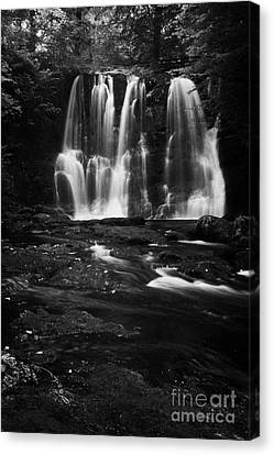 Ess-na-crub Waterfall On The Inver River In Glenariff Forest Park County Antrim Northern Ireland Uk Canvas Print