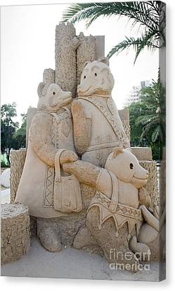 Goldilocks Canvas Print - Fairytale Sand Sculpture  by Sv