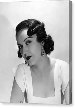 Fay Wray, Ca. 1930s Canvas Print
