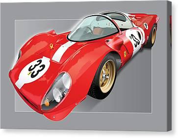 Ferrari 330 P4 Canvas Print by Alain Jamar