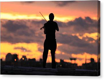 Fiddler On The Roof Canvas Print by Nina Mirhabibi