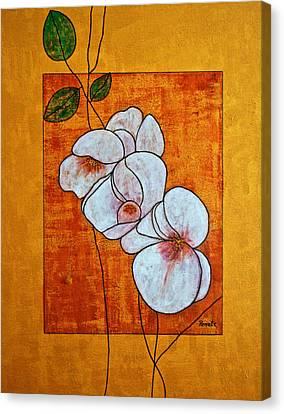 Flower-art Canvas Print by Renate Dartois