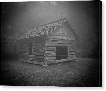 Foggy Mountain Morning Canvas Print by Victoria Ashley
