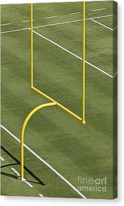 Football Goal Post Canvas Print by Jeremy Woodhouse