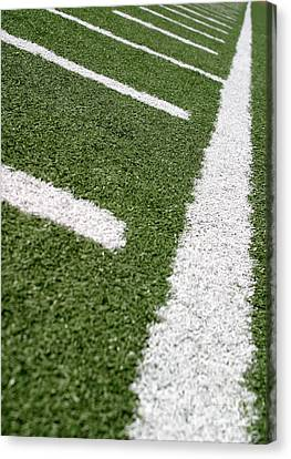 Canvas Print featuring the photograph Football Lines by Henrik Lehnerer