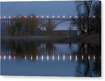 Canvas Print featuring the photograph Ford Parkway Bridge by Tom Gort