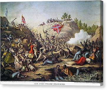 Fort Pillow Massacre, 1864 Canvas Print by Granger
