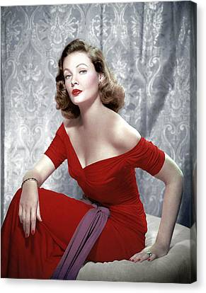 Gene Tierney, 1940s Canvas Print by Everett
