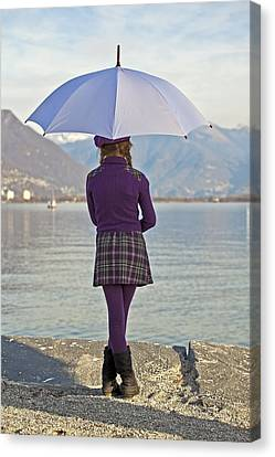 Girl With Umbrella Canvas Print by Joana Kruse