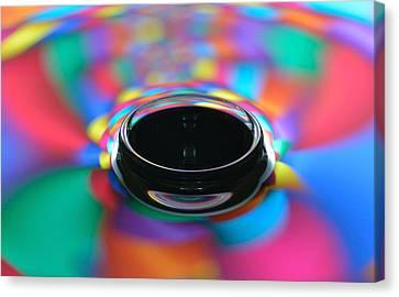 Glassy Harlequin Droplets Canvas Print by Gianfranco Merati