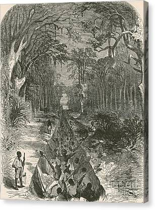 Grants Canal, 1862 Canvas Print by Photo Researchers